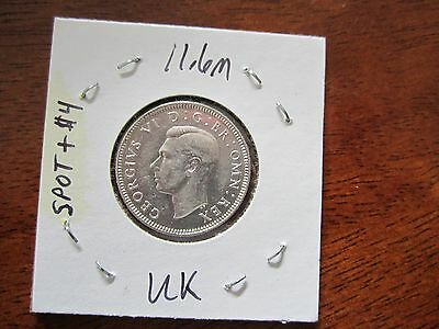 Coinhunters: 1929 UK 6 Pence Silver Foreign Coin KM 853