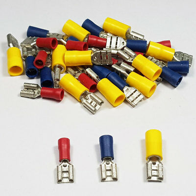 Insulated Female Spade Terminals Red Blue Yellow Crimp Terminal Connector