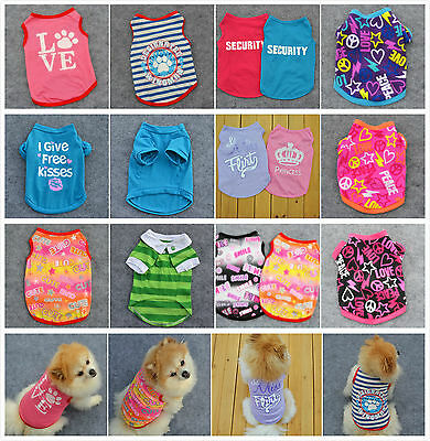 Pet Cat Small Dog Puppy Vest T-Shirt Dress Pet Clothes Summer Apparel Costumes