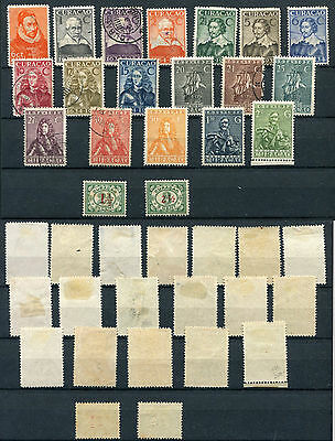 1931/34  Curacao  N.97/116    Mh Used   Ont698