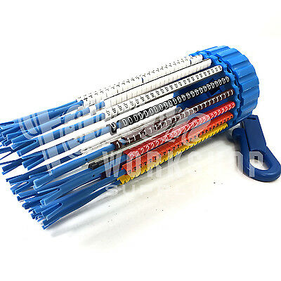 500 Indent Cable Marking Keyring Dispenser Colour & Black White Markers Mdh Pa1