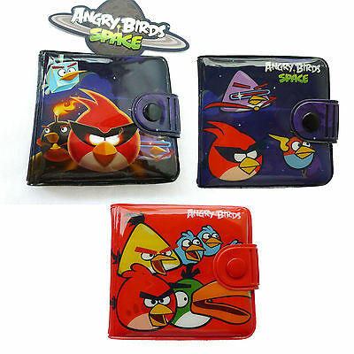 Licensed Angry Birds Boys Girls Kids Billfold Coin Bag Purses Wallets Id Cards