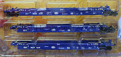 HO Scale  ATLAS 20 002 839 PACER STACK TRAIN Thrall 53' Articulated Well Car Set