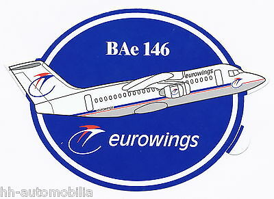 Aufkleber Flugzeug BAe 146 Eurowings - Top-Zustand! Sticker plane  top condition