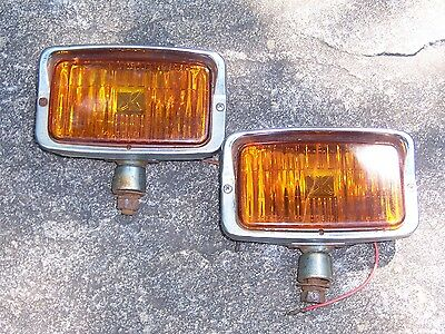 Pair of Vintage Fog Lights Van Ford Chevy Dodge Jeep Truck Hot Rod Street