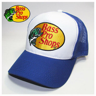 Bass Pro Shops Fishing Royal Blue Mesh Trucker Hat, Cap