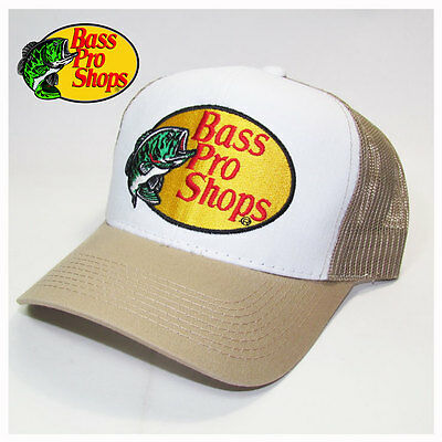 Bass Pro Shops Fishing Khaki Mesh Trucker Hat, Cap