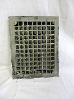 VINTAGE 1920S IRON HEATING GRATE RECTANGULAR 14 X 11  f