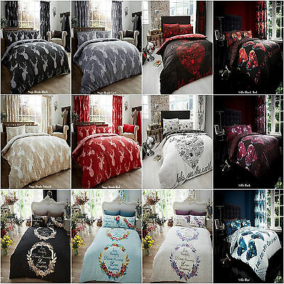Duvet Cover Set With Pillow Case Size Single Double King Super King New Printed