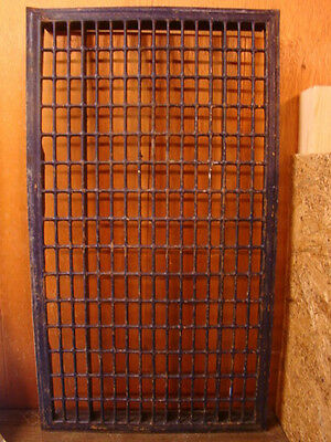 Huge Vintage 1920S Iron Heating Return Grate Rectangular Design 32 X 18