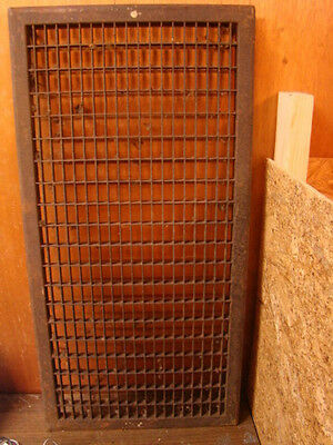 Huge Vintage 1920S Iron Heating Return Grate Rectangular Design 32 X 16