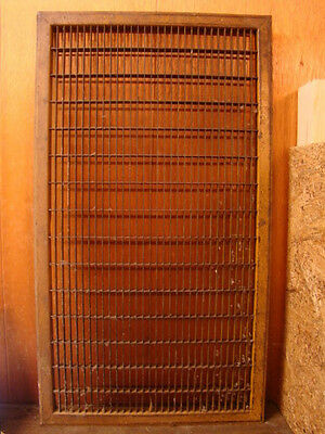 Huge Vintage 1920S Iron Heating Return Grate Rectangular Design 31.75 X 17.75