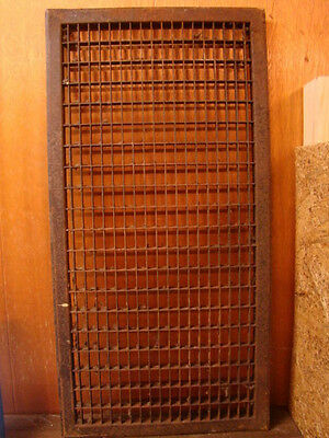 Huge Vintage 1920S Iron Heating Return Grate Rectangular Design 32 X 16 A