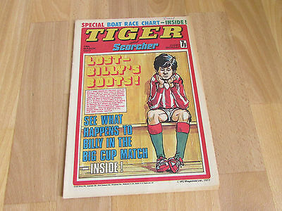 TIGER & Scorcher Comic Tony GREIG & Burnley FOOTBALL Team Picture 19/03/77