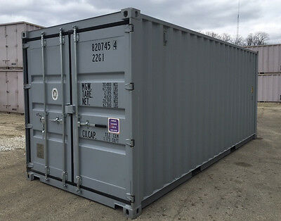 20 ft NEW one-trip shipping cargo storage container central Illinois Peoria IL