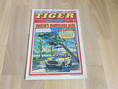 TIGER & Scorcher Comic DERBY County FOOTBALL Team Picture 23/10/76
