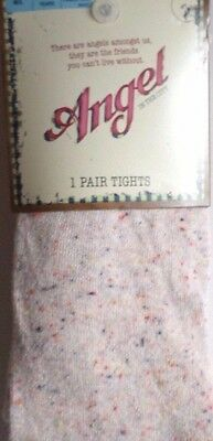 New Girls Tights M&s Angel In The City Age 15-16 Years Oatmeal M/l