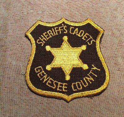 MI Genesee County Michigan Cadets Sheriff Patch (3In)