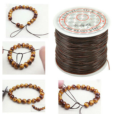 50M Strong Stretch Elastic Cord Wire rope Bracelet Necklace String Bead 0.5mm CR