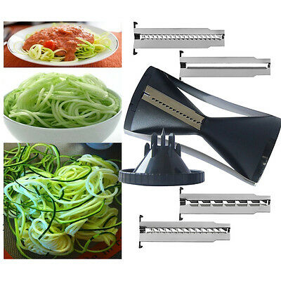 Kitchen Spiral Slicer Vegetable Fruit Cutter Peeler Julienne Grater A++ New