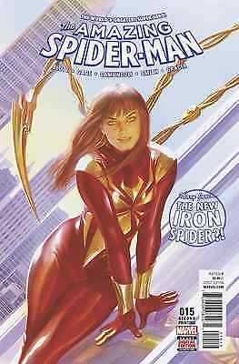 AMAZING SPIDERMAN 15 VOL 4 2015 2nd PRINT VARIANT NM 1st SOLD OUT IRON MJ