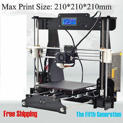 DUTY FREE ! 2016 Upgraded Quality High Precision Reprap Prusa i3 DIY 3d Printer