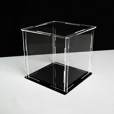 Clear Acrylic Display Box Dustproof Protection Toy Doll Car Model Show Case Cube