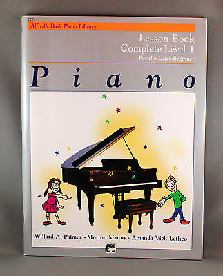 Alfred's Basic Piano Library Lesson Book Complete Level 1 - Brand New