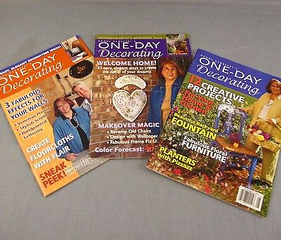 Donna Dewberry One Day Decorating Lot of 3 Art Crafts Painting Folk Magazines