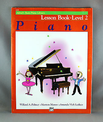 Alfred's Basic Piano Library Lesson Book Level 2 - Brand New