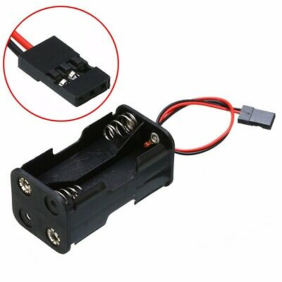 Battery Holder Dual Plug Box 6V DC Case For 4 x AA Size Batteries With Wire Lead