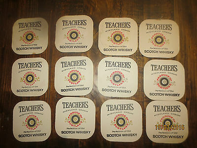 12 TEACHERS Highland Cream 1960,s SCOTCH WHISKY collectable COASTERS