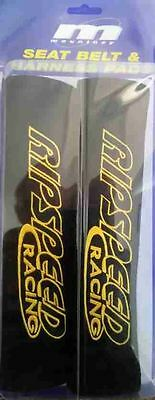 Seat Belt Cover, Harness Shoulder Pad Ripspeed Racing Black (Pair Of)