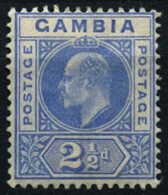 Gambia 1904-6 SG#60, 2.5d Bright Blue KEVII MH #D27405