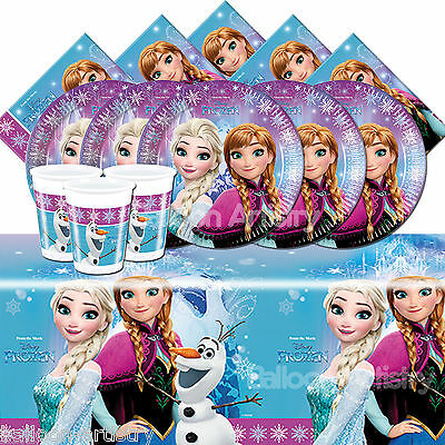 Disney's FROZEN Girl's Child's Birthday Party Tableware Pack Kit 8 - 32 Guests