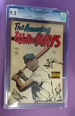 The Amazing Willie Mays Famous Funnies 1954 Cgc Universal Grade 9.2 Nm-