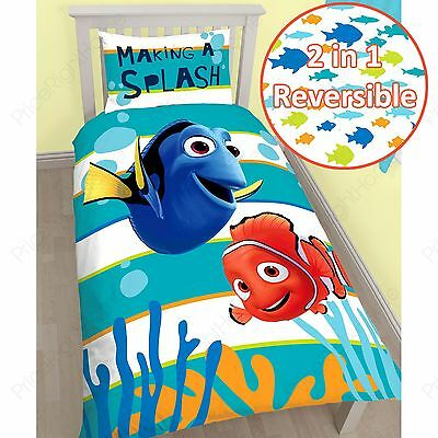 Finding Nemo Dory Single Panel Duvet Cover And Pillowcase Set 100% Official New