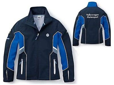 Womens Blue Grey Soft Shell Jacket Coat – Genuine Vw Motorsport R Collection