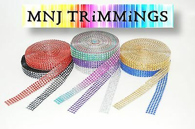 9 yards Diamante Effect, Rhinestone Mesh ribbon trimming bridal craft