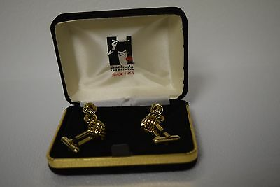 Vintage Sacino's Formalwear Gold Knots Cuff Links and Buttons