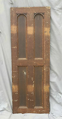 Antique Oak Cabinet Cupboard Door Old Vintage Kitchen Pantry Arch Top 1077-16