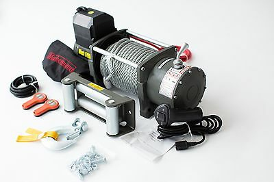 ELECTRIC WINCH 12V 17 000 Lbs lb (7700kg) MACHERMANN BRAND