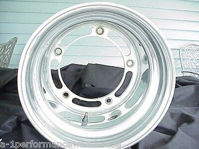 "Real XL 12"" Wide Aluminum Wide 5 NON-Beadlock Wheel 4"" Offset IMCA Late Model W5"