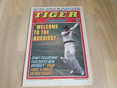 TIGER & Scorcher Comic ENGLAND Cricket vs Aussies Team Picture 21/05/77