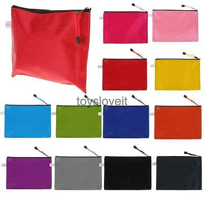10Pcs A5 Size Plastic Office Home School Expanding File Bags Folder Document Bag