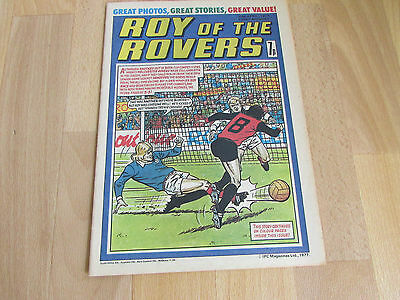 ROY of the ROVERS Comic Mick MILLS & Willie MORGAN Football Picture 30/04/77