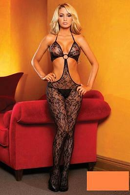* Catsuit  Body Reizwäsche  Bodystocking  Hustler  Metall Ring schwarz 34 36 38