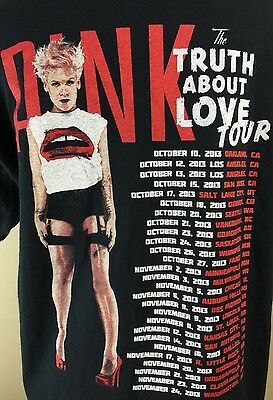 Pink 'The Truth About Love' 2013 Concert T Shirt L Black