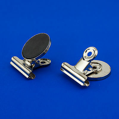 Heavy Duty Small Refrigerator Magnet Silver Hook Clips Holder Home Decor Office