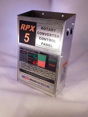 RPX5 5 Hp Rotary Phase Converter Panel make your own true 3 phase power USA MADE